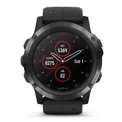 Montre de sport GPS intelligente Garmin fēnix 5X Plus pour l'extérieur