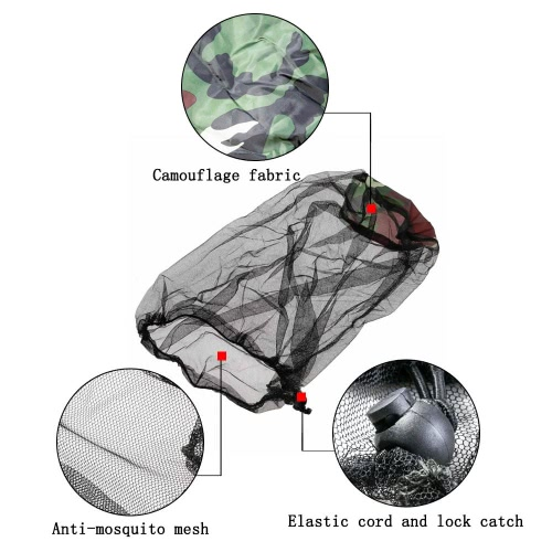 Outdoor Anti-mosquito Mask Hat Multi-function Mesh Face Protection Mosquito Head Net for Fishermen Hunters Hikers CampersSports &amp; Outdoor<br>Outdoor Anti-mosquito Mask Hat Multi-function Mesh Face Protection Mosquito Head Net for Fishermen Hunters Hikers Campers<br>