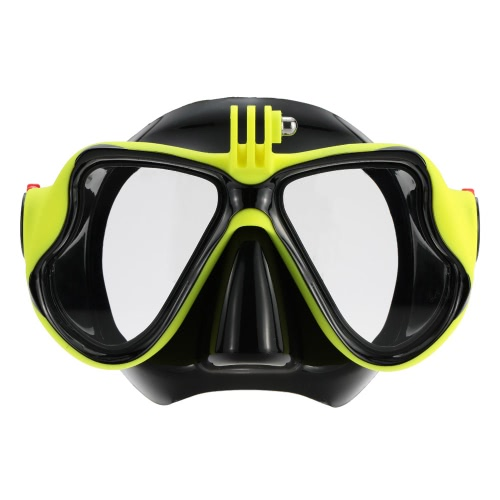 Lixada Adult Scuba Snorkeling Swimming Tempered Glass Diving Mask Goggles with Camera MountSports &amp; Outdoor<br>Lixada Adult Scuba Snorkeling Swimming Tempered Glass Diving Mask Goggles with Camera Mount<br>