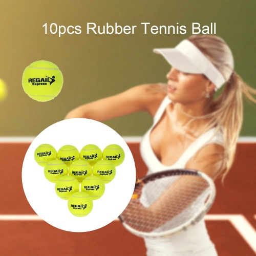 10pcs / bag Tennis Training Bola Practice Training alta resiliência bola de tênis durável bolas de formação para principiantes Concorrência