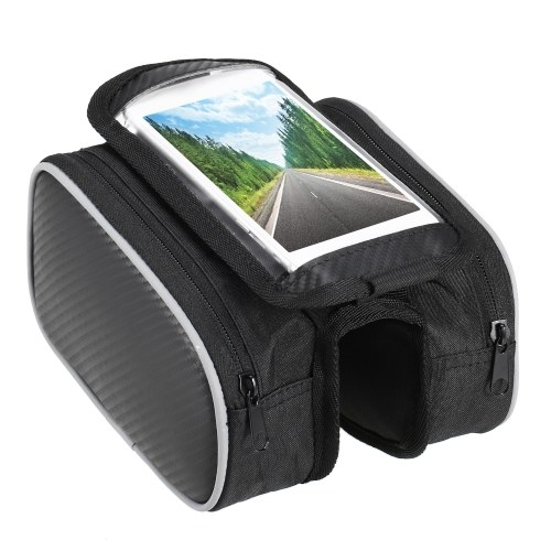 Lixada Bicycle Front Frame Touchscreen Phone Bag