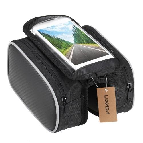Borsa per cellulare con touchscreen per telaio anteriore per bicicletta Lixada