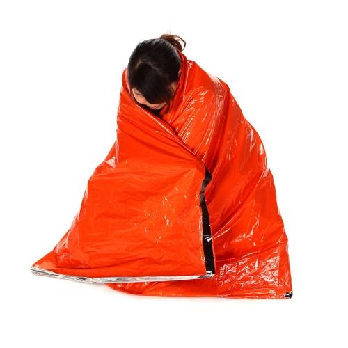 ポータブル緊急寝袋 ポリエチレンスリーピングバッグ アウトドアキャンプ/旅行/ハイキング用