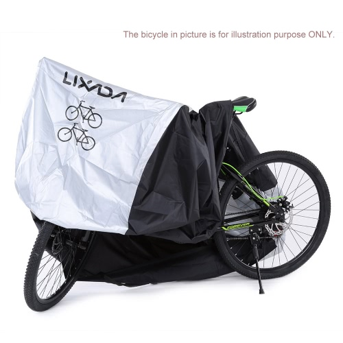 Lixada 180T Polyester Fabrics Bicycle Cover Foldable Durable Bike Cover for 2 Bikes with a Storage BagSports &amp; Outdoor<br>Lixada 180T Polyester Fabrics Bicycle Cover Foldable Durable Bike Cover for 2 Bikes with a Storage Bag<br>