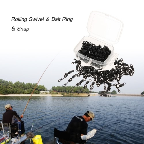 100pcs Rolling Swivel Bait Ring Hooked Snap Combo for Carp Rigs Hooks Carp Fishing Accessory TackleSports &amp; Outdoor<br>100pcs Rolling Swivel Bait Ring Hooked Snap Combo for Carp Rigs Hooks Carp Fishing Accessory Tackle<br>