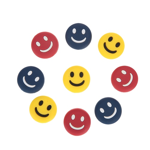 Smiley Tennis Racket Shock Absorber Vibration Dampeners for Tennis Badminton Racquetball Squash Pack of 9Sports &amp; Outdoor<br>Smiley Tennis Racket Shock Absorber Vibration Dampeners for Tennis Badminton Racquetball Squash Pack of 9<br>