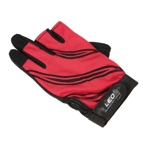LEO 1 Pair Fishing Gloves Breathable Anti-slip 3 Fingerless Fishing Gloves Outdoor Sports Cycling Camping RunningSports &amp; Outdoor<br>LEO 1 Pair Fishing Gloves Breathable Anti-slip 3 Fingerless Fishing Gloves Outdoor Sports Cycling Camping Running<br>