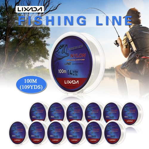 Lixada 100m Fishing Line Thread Clear White Thin Fishing Line Smooth Casting for Freshwater and SaltwaterSports &amp; Outdoor<br>Lixada 100m Fishing Line Thread Clear White Thin Fishing Line Smooth Casting for Freshwater and Saltwater<br>