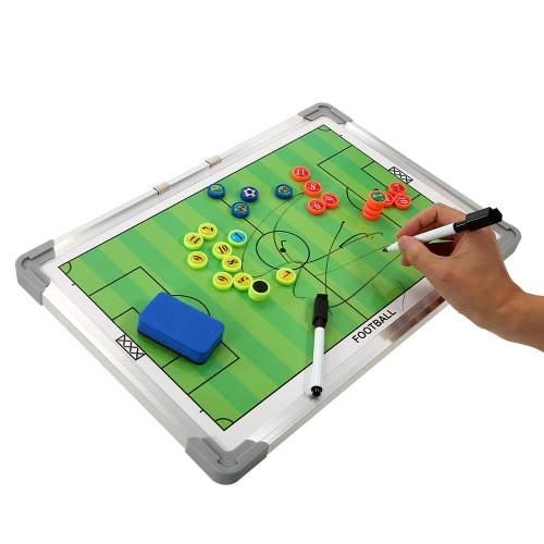 Magnetic Football Coaching Board Erasable Aluminum Soccer Coach Tactics Strategy Book Set with Pen Clipboard Teaching EquimpmentSports &amp; Outdoor<br>Magnetic Football Coaching Board Erasable Aluminum Soccer Coach Tactics Strategy Book Set with Pen Clipboard Teaching Equimpment<br>