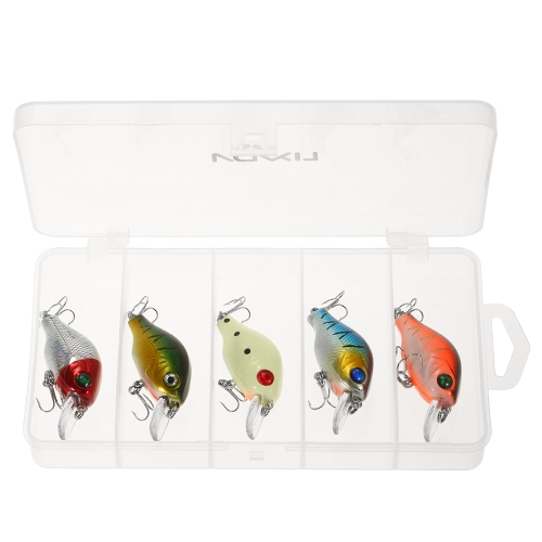 Lixada 5PCS 7G Fishing Lure Kit Crank Floating Lure Crankbait with Fishing Tackle BoxSports &amp; Outdoor<br>Lixada 5PCS 7G Fishing Lure Kit Crank Floating Lure Crankbait with Fishing Tackle Box<br>