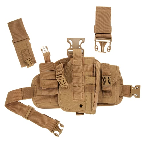Tactical Hunting Holster Drop Leg Thigh Holster Pouch Bag Case with Magazine Holster and Radio PouchSports &amp; Outdoor<br>Tactical Hunting Holster Drop Leg Thigh Holster Pouch Bag Case with Magazine Holster and Radio Pouch<br>