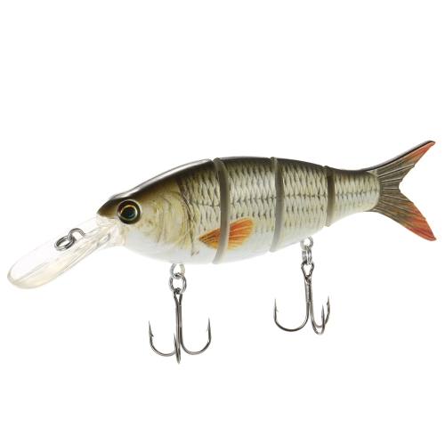 Lixada 1 PCS Fishing Lure 4 Sections Hard Lure 3D Simulation Bait Big Segmented Artificial Bait VIB Bait Treble Hook Fishing ToolSports &amp; Outdoor<br>Lixada 1 PCS Fishing Lure 4 Sections Hard Lure 3D Simulation Bait Big Segmented Artificial Bait VIB Bait Treble Hook Fishing Tool<br>