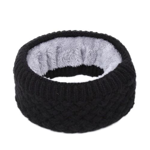 冬リブ編みのサークルループリングスカーフ