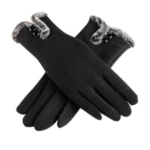 Женские зимние теплые мягкие перчатки с перчатками