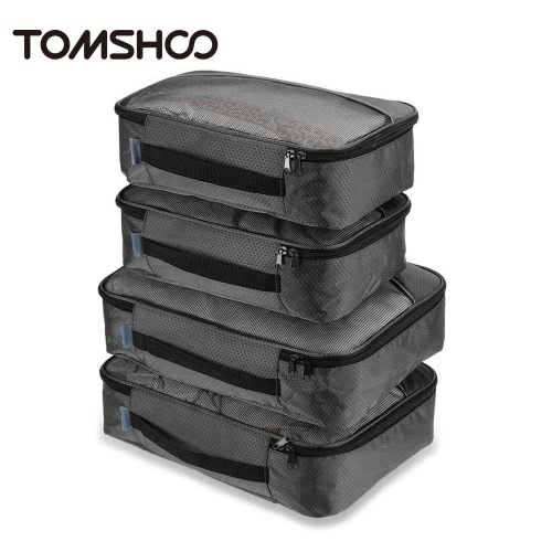 TOMSHOO 4pcs Packing Cubes Clothing Organizer Travel Kit Bags Storage BagsSports &amp; Outdoor<br>TOMSHOO 4pcs Packing Cubes Clothing Organizer Travel Kit Bags Storage Bags<br>