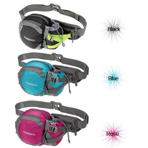 TOMSHOO Water-resistant Outdoor Waist Bag Sports Waist Pack with Water Bottle (Not Included) Holder for Hiking Running Cycling CamSports &amp; Outdoor<br>TOMSHOO Water-resistant Outdoor Waist Bag Sports Waist Pack with Water Bottle (Not Included) Holder for Hiking Running Cycling Cam<br>
