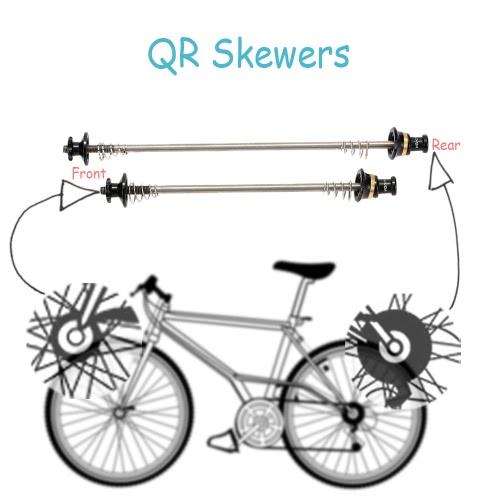 Lixada 2Pcs Ultralight Bicycle Skewers Quick Release Titanium Axle QR SkewerSports &amp; Outdoor<br>Lixada 2Pcs Ultralight Bicycle Skewers Quick Release Titanium Axle QR Skewer<br>