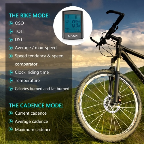 Lixada Multifunctional 2-in-1 Wireless LCD Bicycle Cycling Computer Speed Cadence Water-resistantSports &amp; Outdoor<br>Lixada Multifunctional 2-in-1 Wireless LCD Bicycle Cycling Computer Speed Cadence Water-resistant<br>