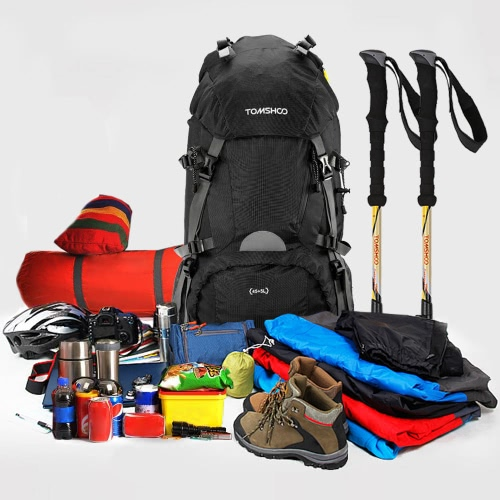 TOMSHOO 45+5L Outdoor Sport Hiking Trekking Camping Travel Backpack Pack Bag Mountaineering Climbing Knapsack with Rain CoverSports &amp; Outdoor<br>TOMSHOO 45+5L Outdoor Sport Hiking Trekking Camping Travel Backpack Pack Bag Mountaineering Climbing Knapsack with Rain Cover<br>