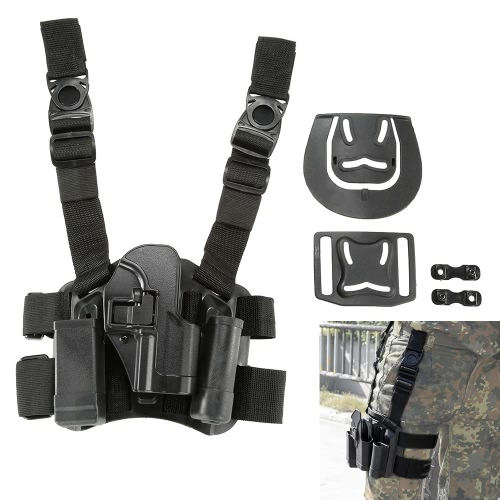 4 in 1 Tactical Hunting Airsoft Drop Leg Thigh Rig Holster Platform with 2 Pouches for USP PistolsSports &amp; Outdoor<br>4 in 1 Tactical Hunting Airsoft Drop Leg Thigh Rig Holster Platform with 2 Pouches for USP Pistols<br>