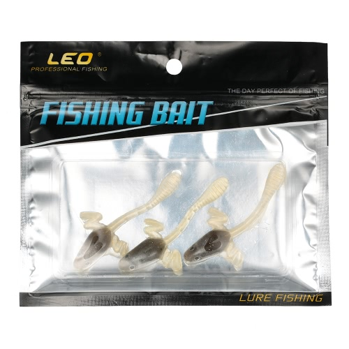 3pcs High Simulation Fishing Baits Soft Silicone Artificial Tadpole Lure Lifelike in the WaterSports &amp; Outdoor<br>3pcs High Simulation Fishing Baits Soft Silicone Artificial Tadpole Lure Lifelike in the Water<br>