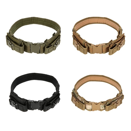Tactical Belt with Two Horizontal Magazine Pouches Outdoor Hunting Military Tactical GearSports &amp; Outdoor<br>Tactical Belt with Two Horizontal Magazine Pouches Outdoor Hunting Military Tactical Gear<br>