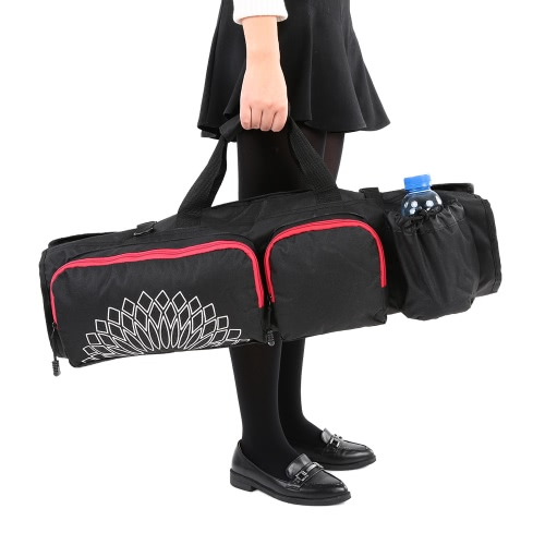 Yoga Mat Bag with Open Ends Mobile Pocket and Water Bottle HolderSports &amp; Outdoor<br>Yoga Mat Bag with Open Ends Mobile Pocket and Water Bottle Holder<br>