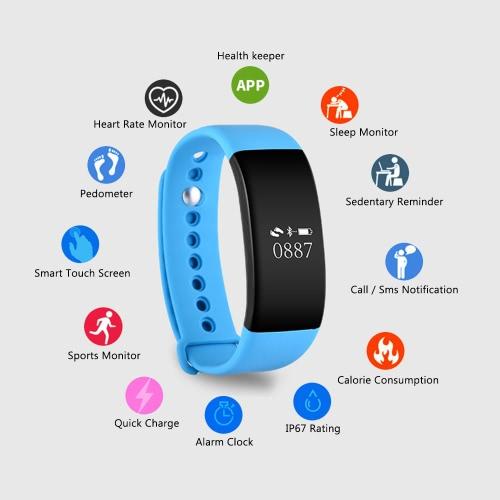 V66 Bluetooth Wireless Fitness Tracker WatchSports &amp; Outdoor<br>V66 Bluetooth Wireless Fitness Tracker Watch<br>