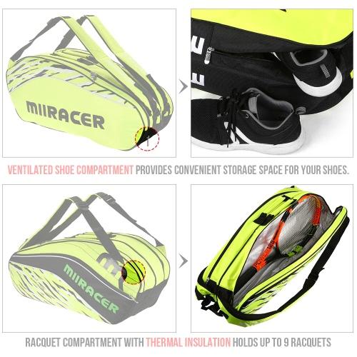 9 Racquet Bag Badminton Tennis Racket Bag Backpack Racket Storage Bag HolderSports &amp; Outdoor<br>9 Racquet Bag Badminton Tennis Racket Bag Backpack Racket Storage Bag Holder<br>