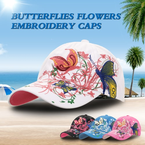 Casual Baseball Hat Cap Butterflies Flowers Embroidery Caps Hats Fashion for WomenSports &amp; Outdoor<br>Casual Baseball Hat Cap Butterflies Flowers Embroidery Caps Hats Fashion for Women<br>