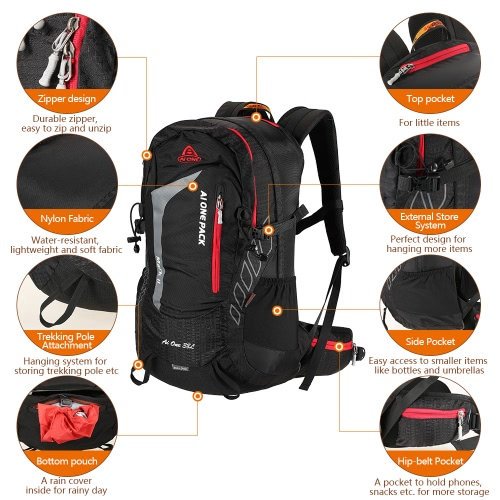 38L Outdoor Sports Backpack Traveling Hiking Camping Trekking Backpack Internal Frame Bag with Rain CoverSports &amp; Outdoor<br>38L Outdoor Sports Backpack Traveling Hiking Camping Trekking Backpack Internal Frame Bag with Rain Cover<br>