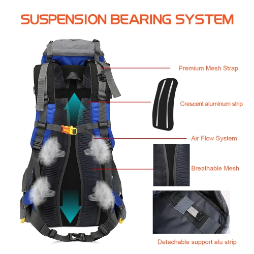 65+5L Outdoor Sport Hiking Trekking Camping Travel Backpack Daypack Mountaineering Climbing Knapsack with Rain CoverSports &amp; Outdoor<br>65+5L Outdoor Sport Hiking Trekking Camping Travel Backpack Daypack Mountaineering Climbing Knapsack with Rain Cover<br>