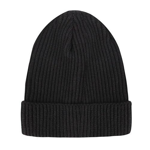 アウトドアニット縦縞ストライプウール帽子
