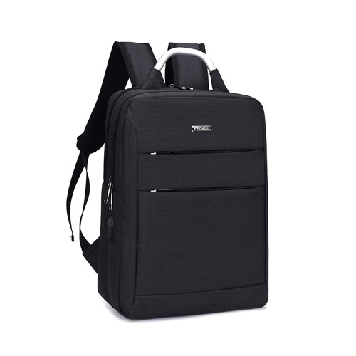 Practical Business Leisure Computer Oxford Fabric PU Backpack