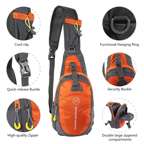 Men Women Girls Boys for Cycling Hiking Camping Travel Chest Bag Shoulder Bag Casual Cross Body Outdoor Sling Bag with AdjustableSports &amp; Outdoor<br>Men Women Girls Boys for Cycling Hiking Camping Travel Chest Bag Shoulder Bag Casual Cross Body Outdoor Sling Bag with Adjustable<br>