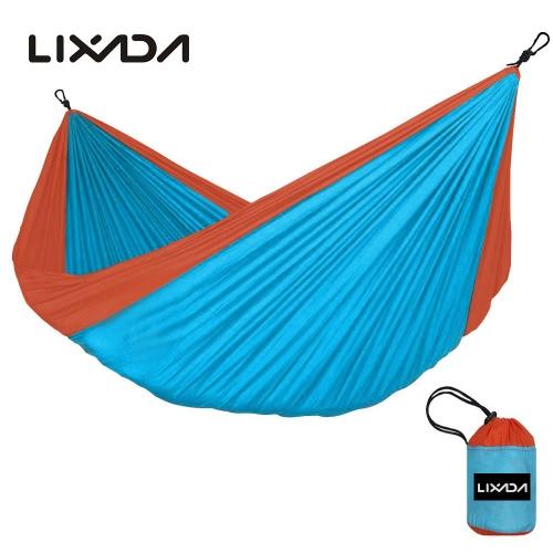 Lixada portátil Durable Compact Nylon Tecido Viajar Camping Hammock para duas pessoas