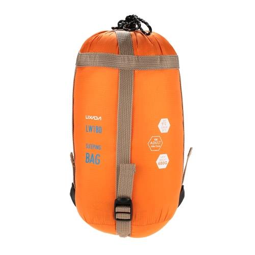 Lixada 190 * 75cm Outdoor Envelope Sleeping Bag Camping Travel Hiking Multifunction Ultra-light 680g