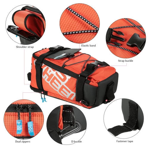 Multifunctional Cycling Bicycle Bike Rear Seat Trunk Bag Outdoor Sports Pouch Rack Panniers Shoulder HandbagSports &amp; Outdoor<br>Multifunctional Cycling Bicycle Bike Rear Seat Trunk Bag Outdoor Sports Pouch Rack Panniers Shoulder Handbag<br>