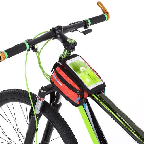 Multifuncitonal Cyling Bike Front Frame Bag Tube Pannier Bicycle Pack Pannier with Double PouchSports &amp; Outdoor<br>Multifuncitonal Cyling Bike Front Frame Bag Tube Pannier Bicycle Pack Pannier with Double Pouch<br>