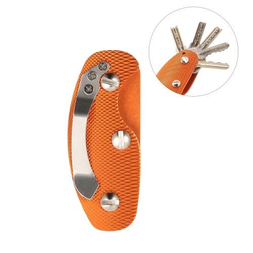 Compact Aluminum Alloy Key Holder Key Organizer Clip Folder Multi-Use EDC Pocket Tool GearSports &amp; Outdoor<br>Compact Aluminum Alloy Key Holder Key Organizer Clip Folder Multi-Use EDC Pocket Tool Gear<br>