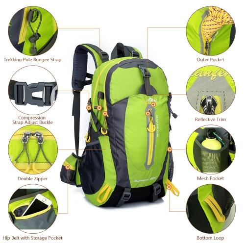 40L Water Resistant Travel Backpack Camp Hike Laptop Daypack Trekking Climb Back Bags For Men Women