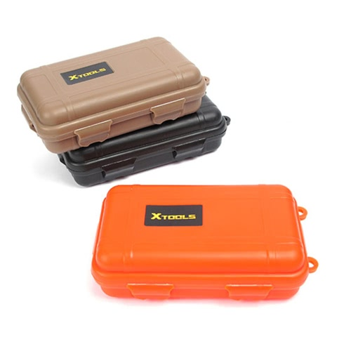 Small Size Waterproof Box EDC Tool Outdoor Survival Kit Container Shockproof Quakeproof Waterproof Press Resistant Watertight LockSports &amp; Outdoor<br>Small Size Waterproof Box EDC Tool Outdoor Survival Kit Container Shockproof Quakeproof Waterproof Press Resistant Watertight Lock<br>