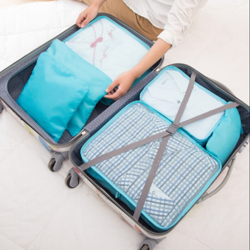 6pcs/set Lightweight Luggage Travel Bags Men and Women Packing Cubes Organizer Compression Pouches  Fashion Double Zipper WaterproSports &amp; Outdoor<br>6pcs/set Lightweight Luggage Travel Bags Men and Women Packing Cubes Organizer Compression Pouches  Fashion Double Zipper Waterpro<br>