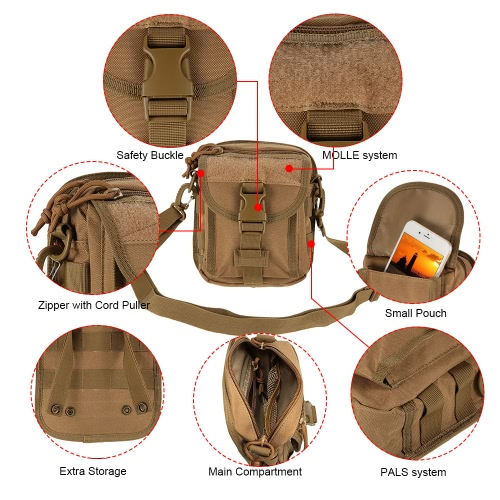 Outdoor Tactical Cross-body Bag Utility MOLLE Pouch Shoulder Bag Pack Military Style Daypack Sling Bag Hiking Camping Trekking HunSports &amp; Outdoor<br>Outdoor Tactical Cross-body Bag Utility MOLLE Pouch Shoulder Bag Pack Military Style Daypack Sling Bag Hiking Camping Trekking Hun<br>