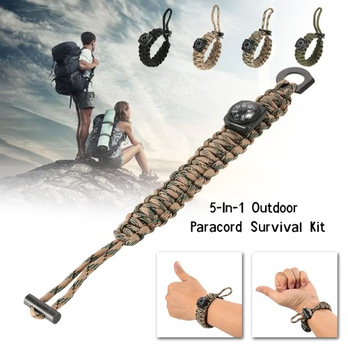 Lixada 19PCS Paracord Bracelet with Outdoor Survival Gear Kit Fire Starter CompassSports &amp; Outdoor<br>Lixada 19PCS Paracord Bracelet with Outdoor Survival Gear Kit Fire Starter Compass<br>