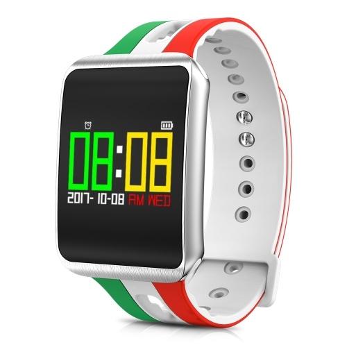 Smart Watch Ultra Long Temps de Veille Montre Smart Watch Distance Calorie Message Rappel Cardiofréquencemètre Test de Pression Artérielle Running Escalade Fitness Sport Smart Bracelet Célébrez pour la Coupe du Monde