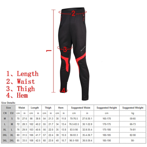 Santic Cycling Fleece Thermal Windproof Pants Winter Pants Men Sports TrousersSports &amp; Outdoor<br>Santic Cycling Fleece Thermal Windproof Pants Winter Pants Men Sports Trousers<br>