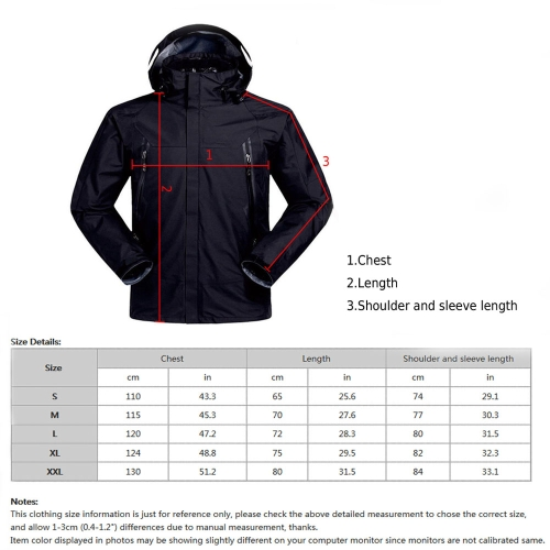 Mens Waterproof 3 in 1 Jacket Down Jacket Outdoor Sports Camping Mountaineering Skiing CoatSports &amp; Outdoor<br>Mens Waterproof 3 in 1 Jacket Down Jacket Outdoor Sports Camping Mountaineering Skiing Coat<br>