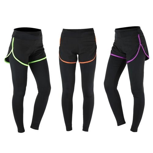 ARSUXEO Womens Gym Sport Yoga Leggings Fake Two Piece Slim Full Length PantsSports &amp; Outdoor<br>ARSUXEO Womens Gym Sport Yoga Leggings Fake Two Piece Slim Full Length Pants<br>