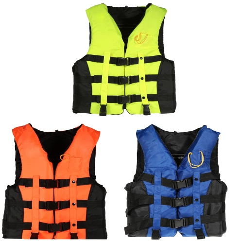 Adult Swimming Boating Drifting Safety Life Jacket Vest with Whistle L-2XLSports &amp; Outdoor<br>Adult Swimming Boating Drifting Safety Life Jacket Vest with Whistle L-2XL<br>